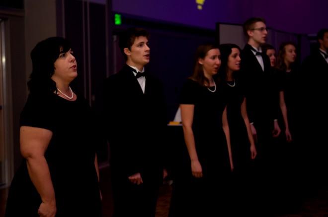 The Concert Choir performs the University Hymn