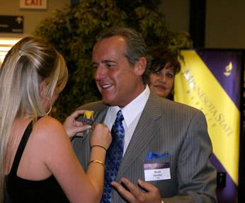 Brad Nessler at the Distinguished Alumni Awards