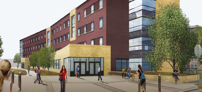 Architect's rendering of the Margaret R. Preska Residence Community