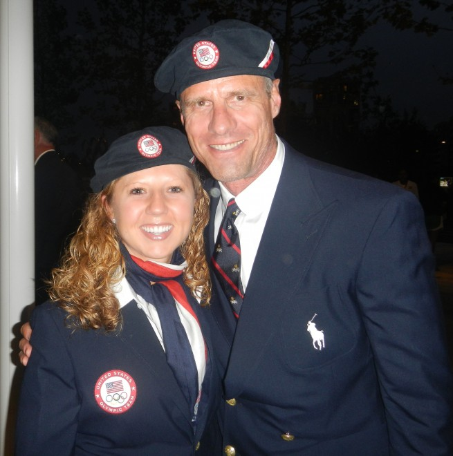 Jill Wosmek with Karch Kiraly