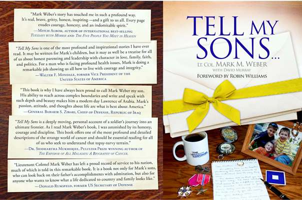 "Cover of Mark Weber's Book, ""Tell My Sons"""
