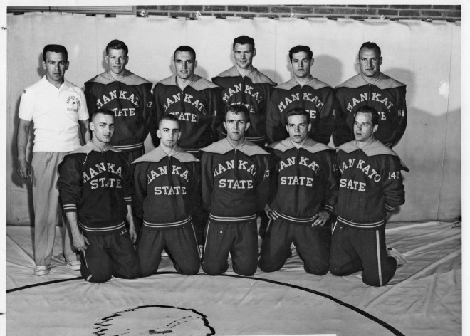 The 1957-58 National Championship wrestling team.