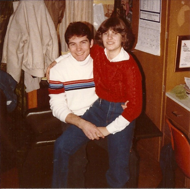 Mark and Jenny in Gage Hall in 1982.