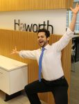 Faical Rayani smiling in his office at Haworth