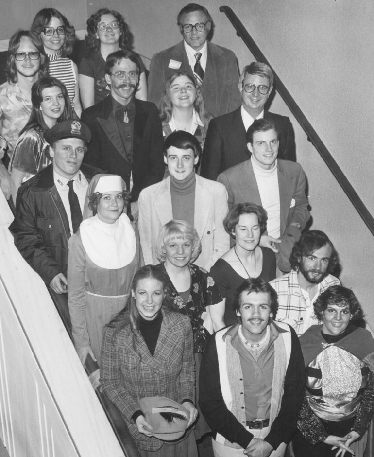 groups of theater students in 1975