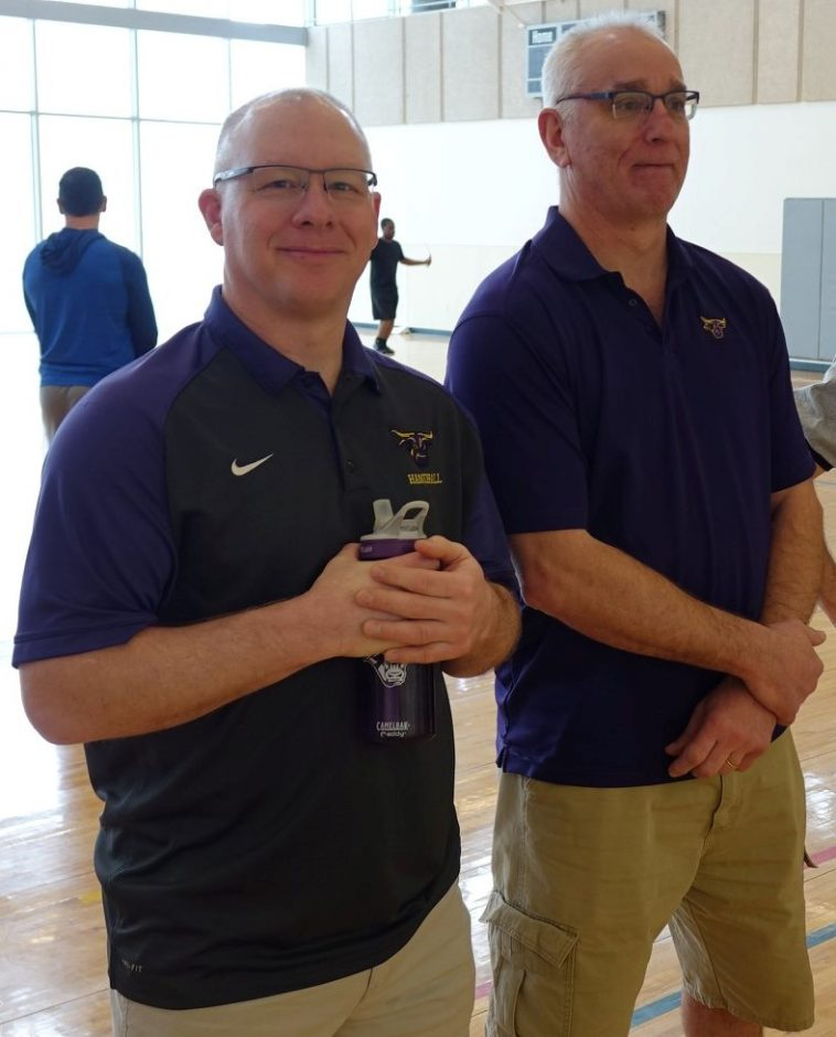Head coach Mike Wells and Jon Stoffel