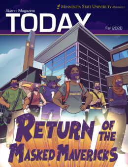 Return of the Masked Mavericks Today Magazine Cover Fall 2020